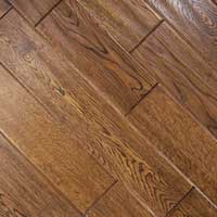 Johnson Distressed Plank Oak Hand Scraped Derby Teak 5in
